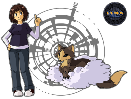 Digimon Zodiac: Candice and Velomon by fox-song
