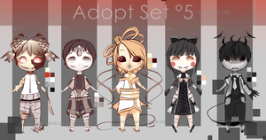 -ADOPT SET'5- OPEN 1/5 -Monster Set- by EdhelSen