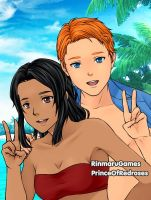 Pacific Island Dip: Alex and Yanit by TheEyeShield