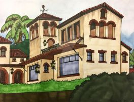 Spanish Colonial Mini Mansion  by ArtRock15
