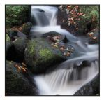 waterfall in autumn by mzkate