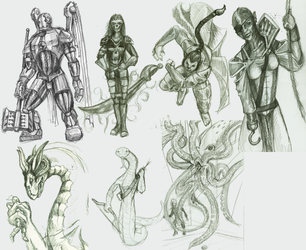 DnD Sketch Dump by Iampicasso85