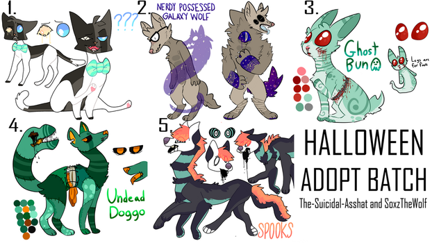 Halloween Adopt Collab Auction (closed!!) by SoxzTheWolf