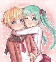 Len x Miku: The Kids They Never Cannonly Were by Yubi-Yubi