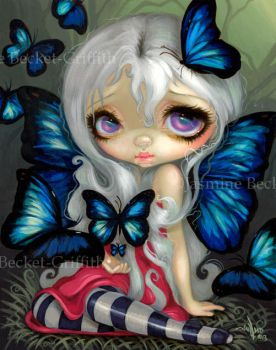 Butterfly Fairies I:  Blue Morpho by jasminetoad