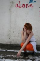 Girl and wall 9 by etniezz-stock