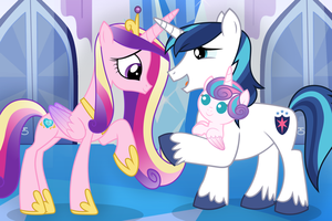 Cadance Meets Flurry Heart by Spottedlions