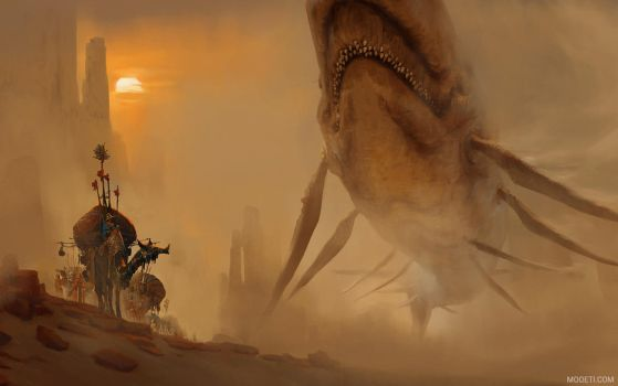 Encounter In The Deep Desert by artursadlos