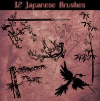 Japanese Brushes by Aidoku