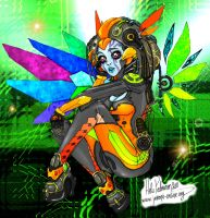 Cybernetic Girl By Volvom by Pygnalumi