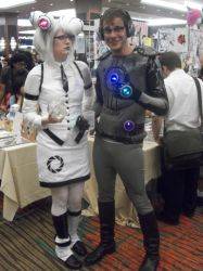 Akon '11 - Glados and Wheatley by TexConChaser