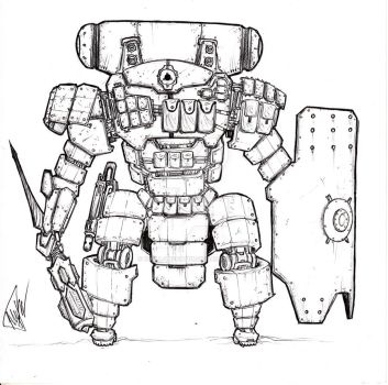 Robots for infantry support MK-02 (USA) by KIRILL-PREDATOR