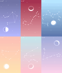 Zodiac Constellation Wallpaper Pack no. 2 by Stardust-Specks