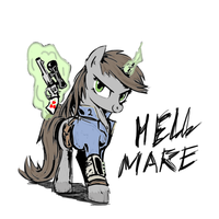 Hell Mare by Zoarvek [COLORED] by Capt-SierraSparx