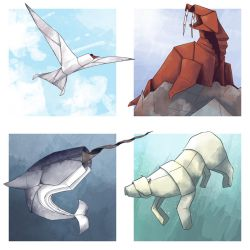 Arctic Origami by GoldenLionofRa