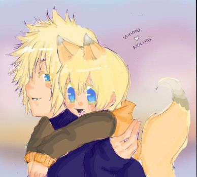 A Father and his Foxyson by Yondaime-x-Naruto