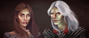 Rhaegar and Lyanna by Silvaticus