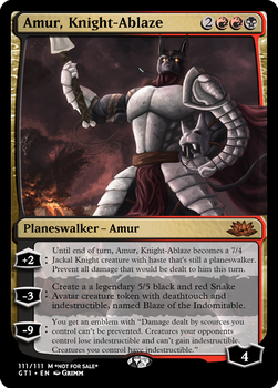 Amur, Knight-Ablaze - Planeswalker by Cryptos13