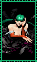 Morrigan Aensland Stamp by WOLFBLADE111