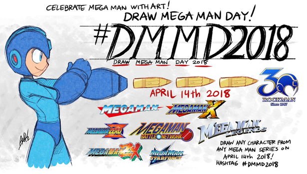 Draw Mega Man Day 2018 by AndrewDickman