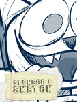 Sponsor A Sketch - Crazy Cafeteria Cat by AdriOfTheDead