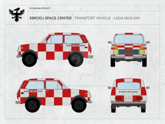 SBRODJ SPACE CENTER - TRANSPORT VEHICLE LADA NIVA by droneaircraftconcept