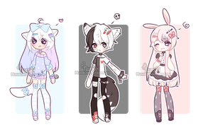 +Chibi Mix Adoptables 35 :: CLOSED :: + by Hunibi