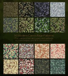 Modern Camouflage Patterns II by silver-