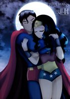 SuperMan and WonderWoman_I just need you by jotakaanimation