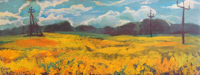 Suislepa painting practice - Canola field by Cliotna