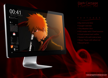 Dark Carnage - Black Rainmeter Skin by LordCarnage666