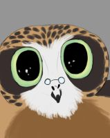 Owl Glasses Daily sketch #823 by GothicVampireFreak