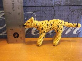 Miniature crochet cheetah amigurumi by ShadowOrder7