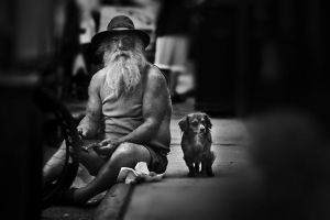 Man with his Dog by MBaqerstyle