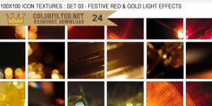 Icon Textures Set 03 - Festive Red and Gold Lights by colorfilter