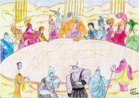 Council of the Gods by Lady-Scorpion