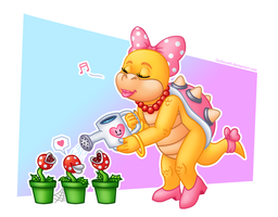 Watering plants by Gothicraft