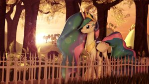 path and sunshine by PointyStarz