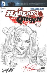 Harley Quinn Sketch Cover Commission by timshinn73