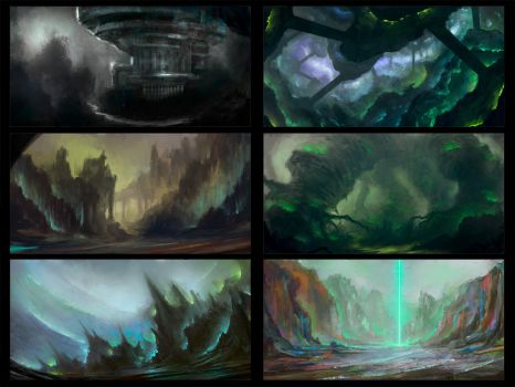 Environment sketches 3 by pav327