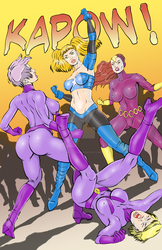 Betty Wonder Vs. The Purple Vixen and the Lilacs by TimPhillips