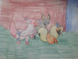 Eevee Group 1 by RainbowGuppy1