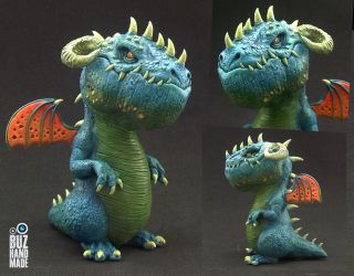 Tropic Sea Battle Dragon by buzhandmade