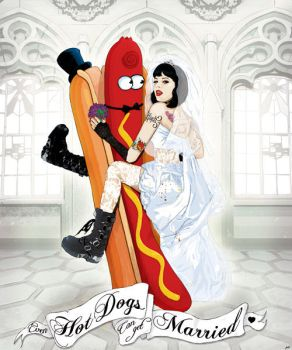 Even Hotdogs can get married by rock-artwork