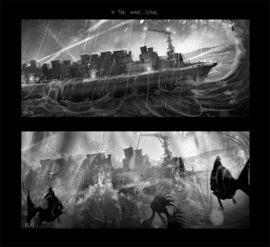 Keyframe-In the wave (for animated movie project) by monsta87