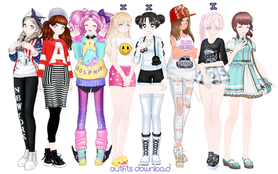 [MMD] Female Outfits by UnluckyCandyFox