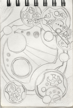Day 18 of my journal written in Gallifreyan by sirkles