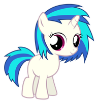 Vinyl Scratch Filly by Serenawyr