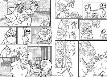 NPW Pages 20 and 21 Inks by JonDavidGuerra