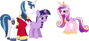Cadance, Shining and Twilight by 90Sigma